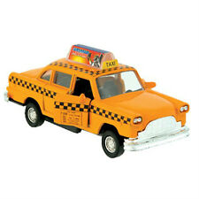 Diecast Classic City Yellow Taxi Cab with pullback action and opening doors