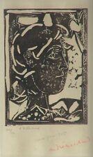 """André MARCHAND (1907-1997) Lithographie 1945 Signée & Justifiée """"L'Arlésienne"""""""