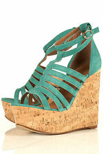 New lovely TOPSHOP WIZARD strappy wedge UK 8 in Green