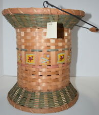 Basket Thread Spool with Handle Flower Pot Arrangement Sewing Crafts