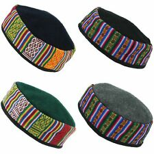 Nepalese Wool Smoking Hat Cap Thinking Lounging  Fez Kufi Embroidered