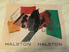 Andy Warhol Serigraph for Halston Men's Wear - Original two sided