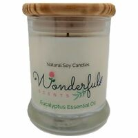 12.5 oz Soy Candle Cotton Wick Hand Poured Status Jar With Wooden Lid