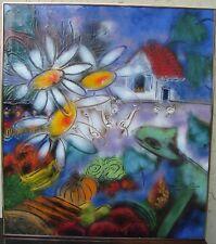 BERNARD SEGUIN POIRIER - GORGEOUS LARGE ENAMEL ON COPPER ART - 1983 - CANADA