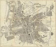MARSEILLES. Antique town plan. City map. France. BRADSHAW 1890 old