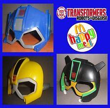 Transformers Happy Meal 2016 Mask 3 Maschere Bumblebee Optimus Prime Grimlock