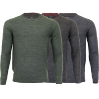 Mens Jumper Brave Soul Knitted Pullover Sweater Top Crew Neck Casual Warm Winter