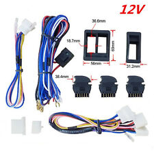 Top Quality 12V Car Door Power Window Switch Kit With Wiring Harness Universal