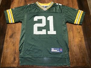 Youth Reebok Green Bay Packers Charles Woodson #21 Jersey Size Large (14-16)
