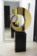 Énorme Couleur dorée Sculpture en Acier inoxydable 90x74 cm/21kg. Platine plaqué