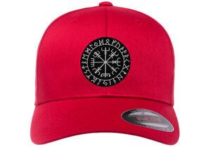VIKING COMPASS PATCH VEGVISIR ICELANDIC NORSE RUNE  Patch FLEXFIT HAT
