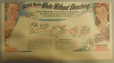Oxydol Soap Ad: Oxydol Washes White Without Bleaching ! from 1940's