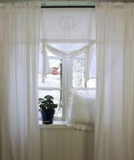 Vorhang Amalie WEISS Gardine 120x240 Lillabelle Monogramm Landhaus Shabb