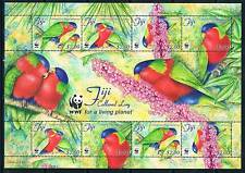 Fiji 2012 Collared Pariket SHEET  MNH