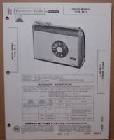 SAMS PHOTOFACT SERVICE MANUAL 521-12 PHILCO MODELS T-76B BR T