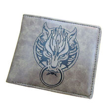 Final Fantasy VII 7 Cloud Wolf Grey Wallet Purse Cosplay Game Collectible
