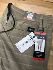 O'Neill Men's Hybrid Stretch Walk Shorts 34 Crossover Khaki Tan (Coriander)