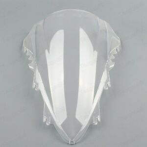 Clear Double Bubble Windscreen Windshield  ABS For Yamaha YZF R1 2007-2008 New