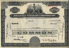 Rockwell Standard Corporation Stock Certificate
