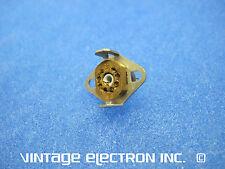 NOS 8-Pin Subminiature (Sub-miniature) Cinch Vacuum Tube Sockets - w/Shield Mnts