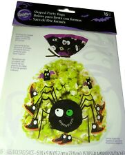 Wilton Party Bags Cello 4 packs 60 ct. Shaped Halloween Treat Sacks Spider Bats