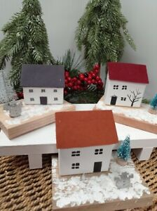 Rustic Driftwood Reclaimed Wood Chrsitmas Small Houses Cottages Craft Gift