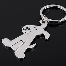 Dog Keychain Silver Jewelry Keyring Animal Car Bag Key Chain Gifts Charm Metal