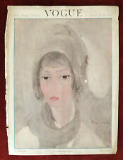 Vogue Magazine Original Cover Only ~ August 15, 1923 ~ Marie Laurencin