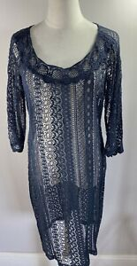 Moss & Spy - Navy Lace Dress - Size 12 - Preowned VGC