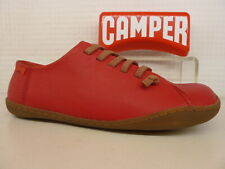 Camper Peu Cami K200514 - 015 Red Leather Elastic Lace Ladies Shoe
