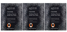 3x Sanctuary Spa Cleanse Bubble Purifying Face Mask Sheet + Charcoal 22g