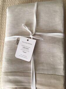 Williams Sonoma Jacquard Sonoma 70 x 108 Table Cloth Taupe Gorgeous!