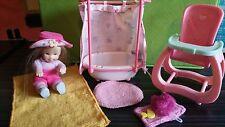 Only Hearts Club Li'L Kids Doll & Bath Set Lot. Tub, Towel, High Chair, More