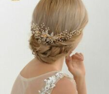 Vintage Hair Comb Gold  Hairpiece Wedding Bridal Hairpiece Accessories Women