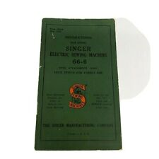 Vtg Singer 66-6 Sewing Machine Instruction Users Manual Guide 1929 Rev 1950