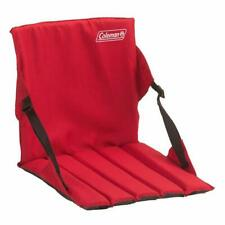 Padded Stadium Seat Portable Chair Red Bleacher Cushion Folding Bench Camping