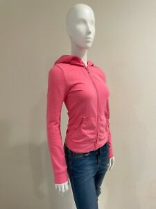 JUICY COUTURE WOMEN'S LONG SLEEVES CLASSIC PINK WITH BACK LOGO HOODIE SIZE 14