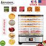 Homdox 5-8 Tray Food Dehydrator Machine 400W Fruit Dryer Meat Beef Herb BPA-Free