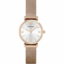 NEW Emporio Armani - AR1956 - Ladies Stainless Steel Mesh -Rose Gold Tone Watch