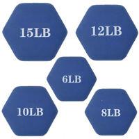 Cap Hex Neoprene Dumbbells Weights - 6LB 8LB 10LB 12LB 15LB pick your own bundle