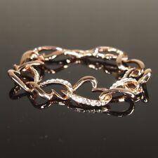 SALE 18K Yellow / Rose Gold Filled made with Swarovski Crystal Bracelet b208YG