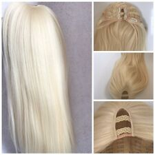 "U part Wig Soft Blonde 20"" Straight Long hair 200g Parting Premium Quality"