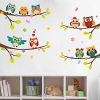1x Cute Owl Bird DIY Wall Stickers Kids Removable Vinyl Decal Mural Home Decor