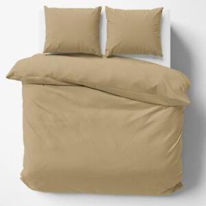 1000/1200TC Egypt Cotton Zipper closure ~Bedding Collection Beige solid UK-Sizes