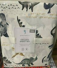 Pottery Barn Kids Organic Jurassic dino dinosaur TWIN sheet set