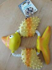 jouet sonore pour chien lot de 2 os et poisson