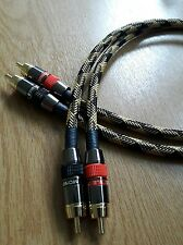 *HIFI Special* Monster/Europa RCA Phono Cable Black & Yellow braided 1m Pair