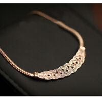 Women Crystal Choker Fashion Chunky Statement Chain Pendant Bib Necklace Jewelry