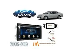 2006-2009 FORD FUSION DOUBLE DIN STEREO KIT, USB TOUCHSCREEN BLUETOOTH DVD