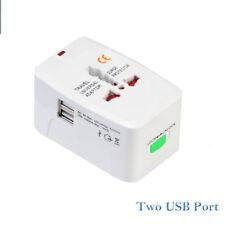 World Travel Universal convertidor de adaptador con doble cargador USB AU/UK/US/
